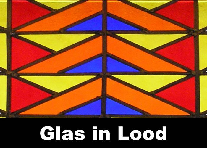 Glas in Lood paneel Restauratie van de door ons gebruikte technieken voor ambachtelijke glaskunst