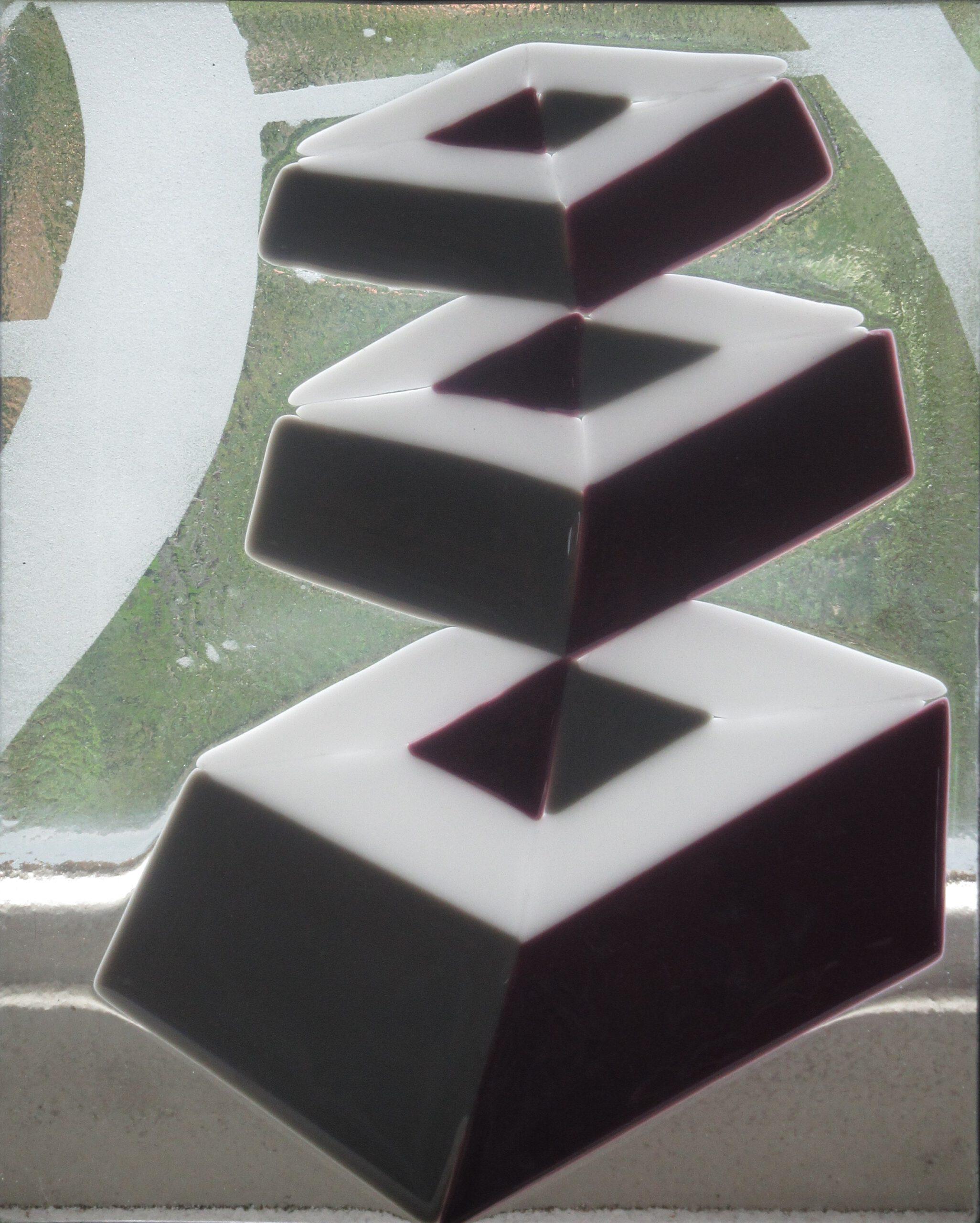 Glazen paneel dmv glasfusing fusion gemaakt