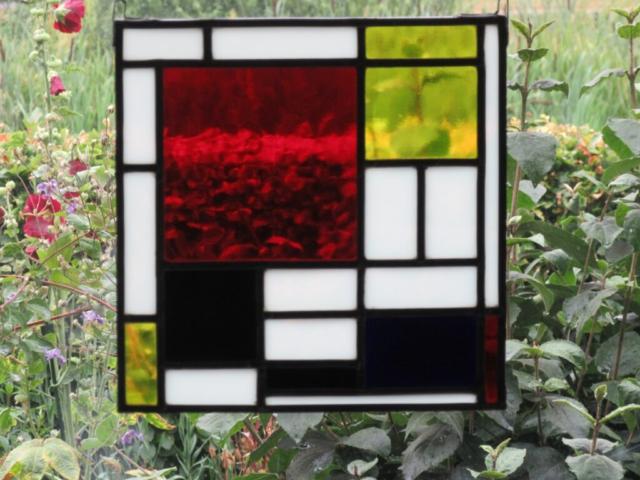Glas in Lood Paneel in ons atelier gemaakt