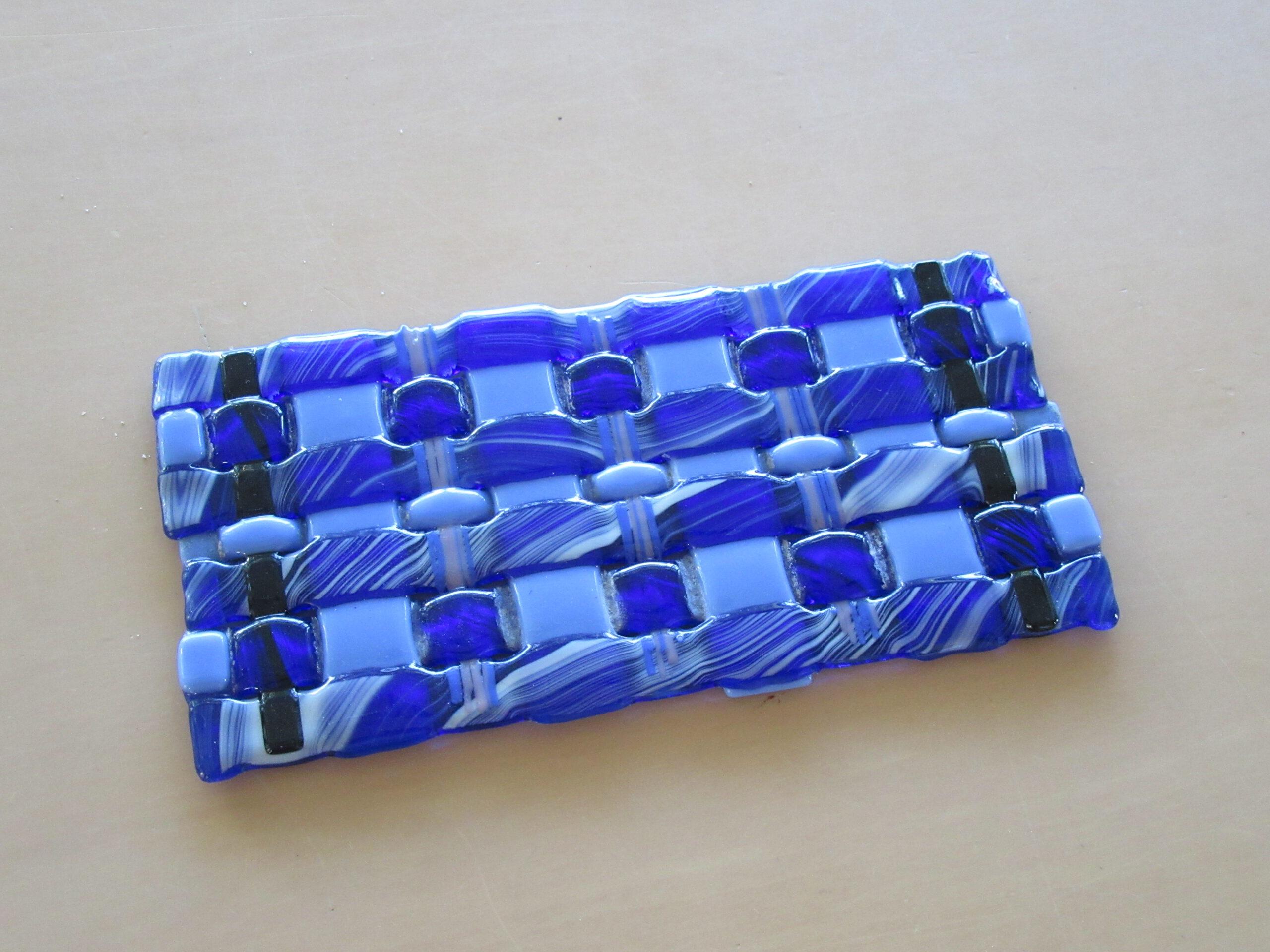 Glazen schaal dmv glasfusing fusion gemaakt