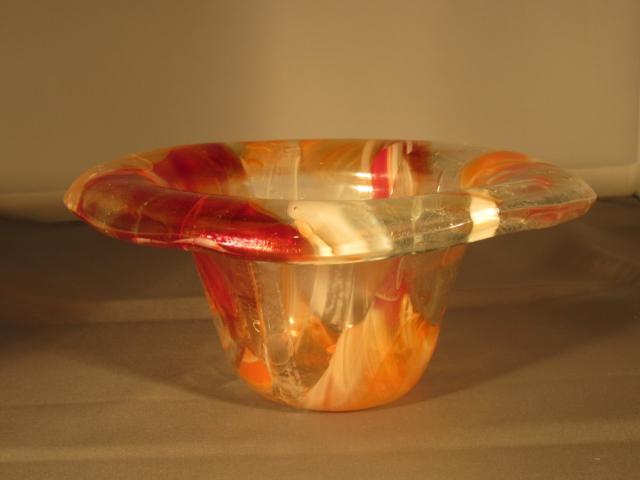 Glazen vaas dmv glasfusing fusion gemaakt