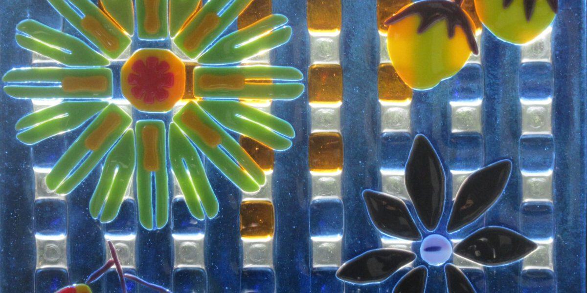 Glaskunst door ambachtelijk atelier gemaakt, hier met fusion